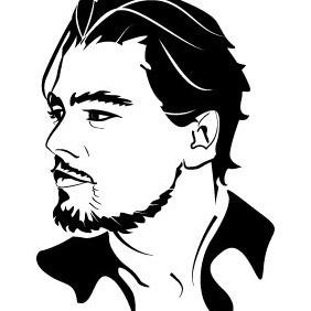 Leonardo DiCaprio Vector Portrait - Kostenloses vector #211479