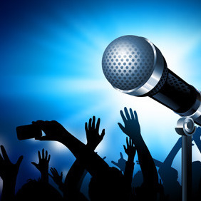 Karaoke Microphone Vector - vector gratuit #211529