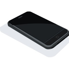 Black IPhone - Free vector #211539