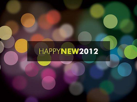 Glückliche neue 2012 - Kostenloses vector #211639