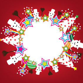 Snowball Banner - Free vector #211739