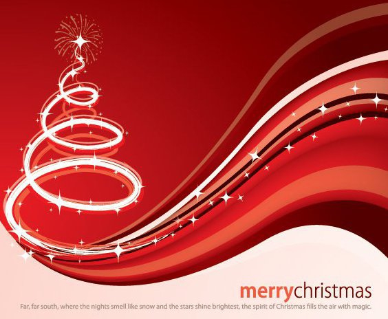 Magische Weihnachtskarte - Free vector #211799