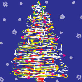 Spiral Christmas Tree - Free vector #211819