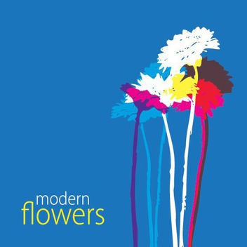 Modern Flowers - vector #211929 gratis
