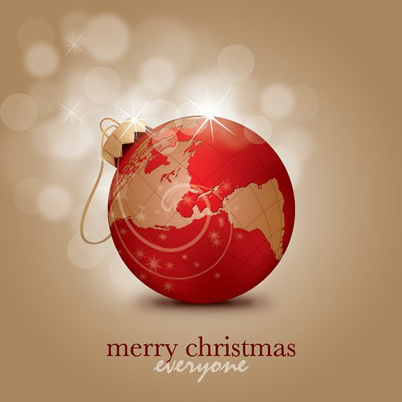 Merry Christmas Everyone - Free vector #211959