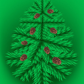 Fir Christmas Tree - vector gratuit #212059