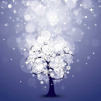 Snowing Night - vector gratuit #212149