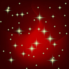Christmas Background With Stars - vector gratuit #212269