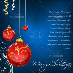 Floral Christmas Card - Free vector #212299