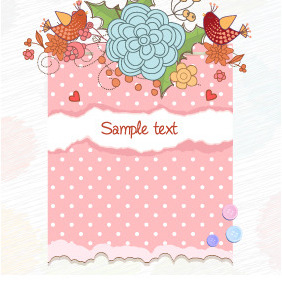 Free Vector Illustration With Flowers - Free vector #212319
