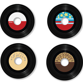 Vector Vinyl Records - vector gratuit #212329