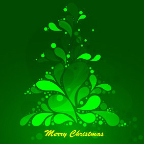 Abstract Green Christmas Tree Vecto - Kostenloses vector #212379