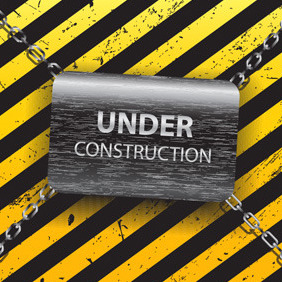 Under Construction Template - vector gratuit #212569