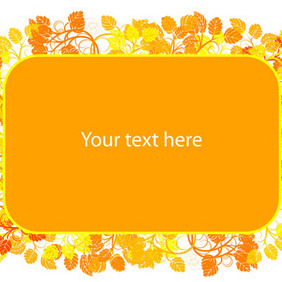 Floral Colorful Frame - vector #212629 gratis