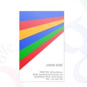 Google Business Card Template - vector gratuit #212749