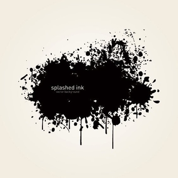 Splashed Ink - vector gratuit #212819