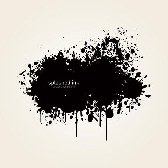 Splashed Ink - Free vector #212819