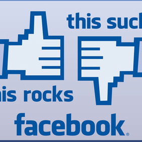 Facebook Like Dislike - vector gratuit #212839