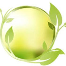 Floral Green Circle - Free vector #212889