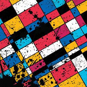 Colourful Grunge Squares - vector #212909 gratis