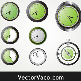 Analog Clock - Free vector #212999