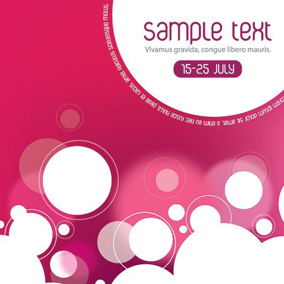 Diseño de Flyer summerish - vector #213069 gratis