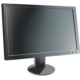 LCD Computer Monitor - vector gratuit #213089