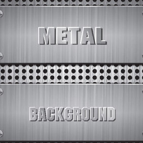 Metal Backgroundtexture - vector #213129 gratis