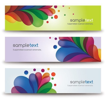 Colorful Banners - Free vector #213149