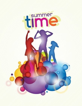 Summer Time - vector gratuit #213329