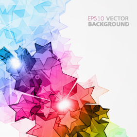 Free Colorful Vector Stars Illustration - Kostenloses vector #213459