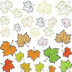 Autumn Leaves Background. Back To School! - Free vector #213539