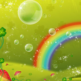 Clover Leaf Rainbow Valley - vector gratuit #213579