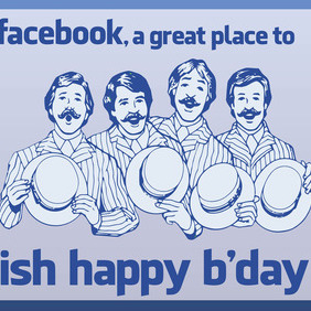 Facebook Birthday - vector gratuit #213689