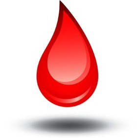 Red Blood Drop - Free vector #213719