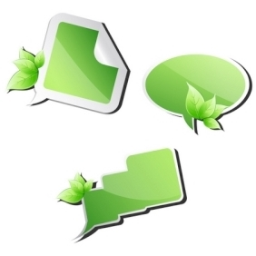 Leafy Dialogue Bubbles - vector gratuit #213879