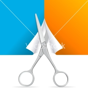 Free scissors cut paper vector - Free vector #214019