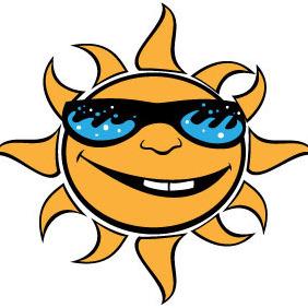 Smiliong Sun Vector - Free vector #214129