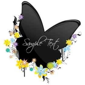 Butterfly On Flowers - Free vector #214209