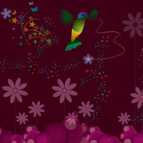 Humming Bird - vector gratuit #214369