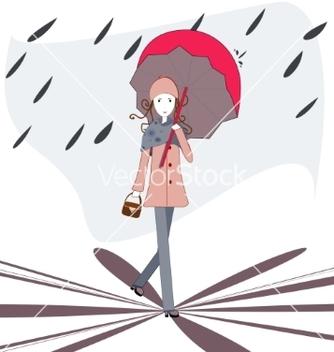 Free under an umbrella vector - Kostenloses vector #214469