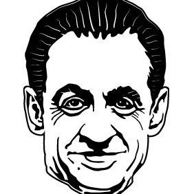 Nicholas Sarkozy Vector - Free vector #214479