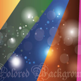 Colored Vector With Five Colors - vector gratuit #214639