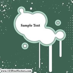 Vector Grunge Circle Frame - бесплатный vector #214709