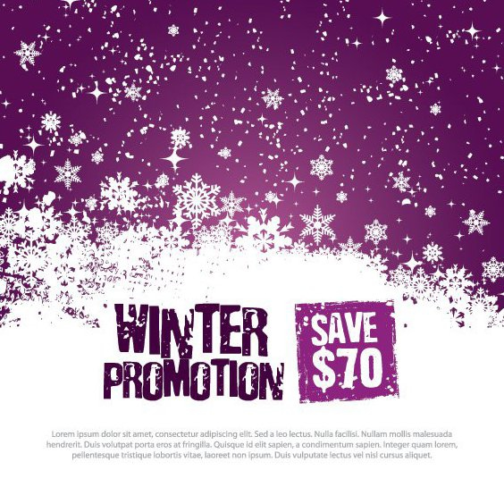 Winter-Promotion-Vorlage - Free vector #214749