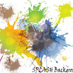 Colored Splash Vector With Retro Circles - Kostenloses vector #214759