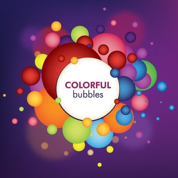 Colorful Bubbles - vector gratuit #214869