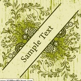 Vintage Floral Frame Vector - Free vector #214959