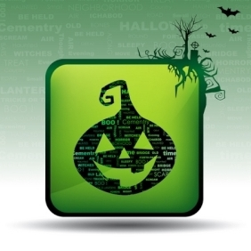 Halloween Card - vector gratuit #215099