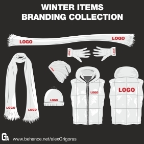 Winter Items Branding Collection - Free vector #215339